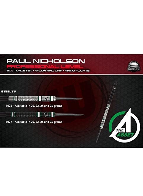 Winmau Paul Nicholson (Silver colour ) 90% Tungsten 26 Gram Renkli